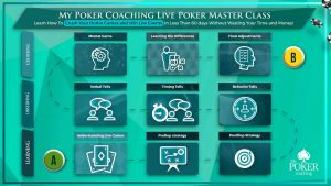 My Poker Coaching Live Poker Master Class big