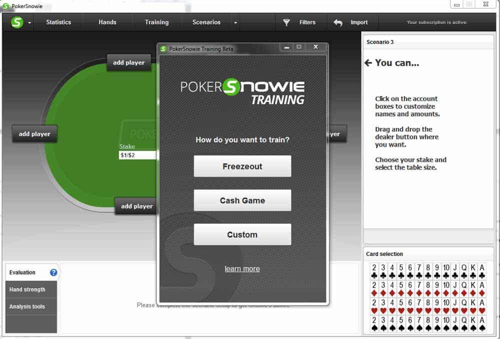 Poker Snowie training software