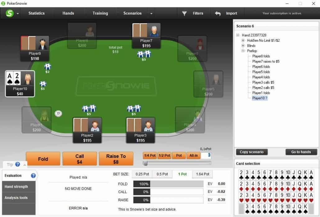 pokersnowie review app scenarios