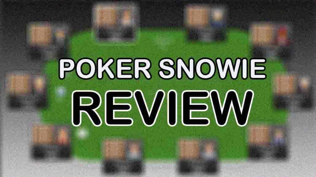 poker snowie review app strategy best