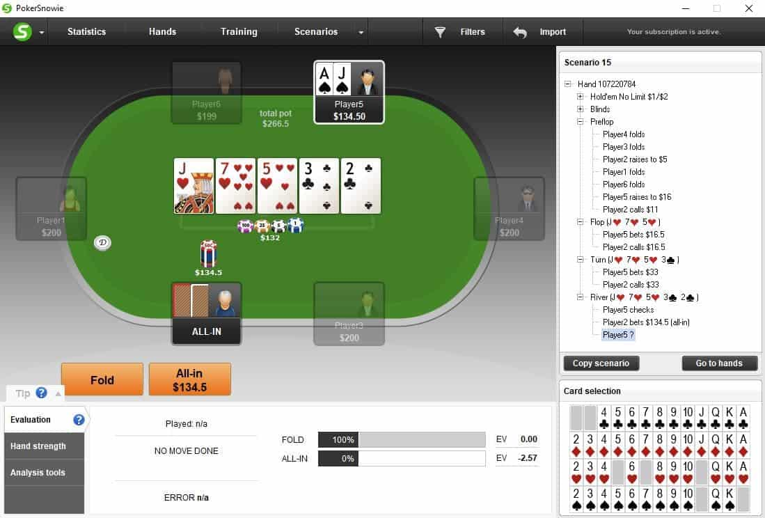 bluff catching hands tips