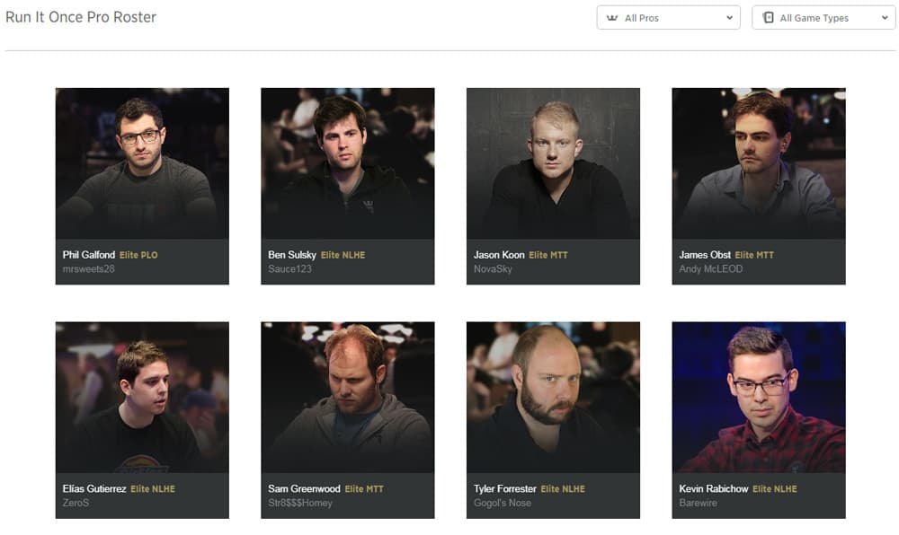 rio poker training site - meet the pros