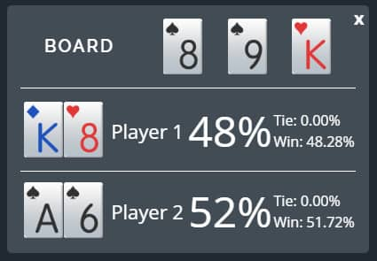 short deck poker rules hand equity