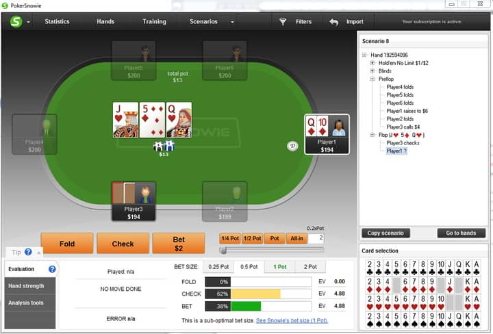 continuation betting hands range
