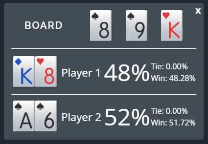 short deck poker format odds