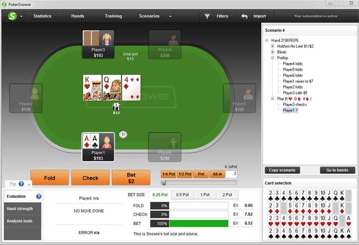 bet size strategy Texas Holdem