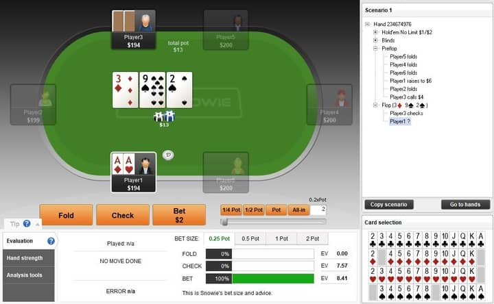 bet sizing post flop