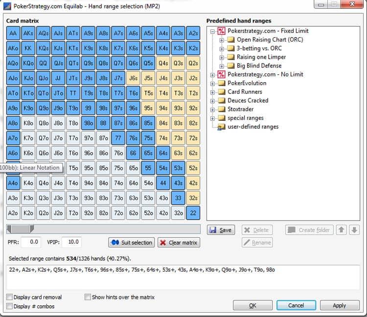 dealer poker position table