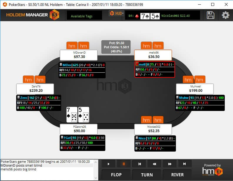 holdem manager 3 hand replayer