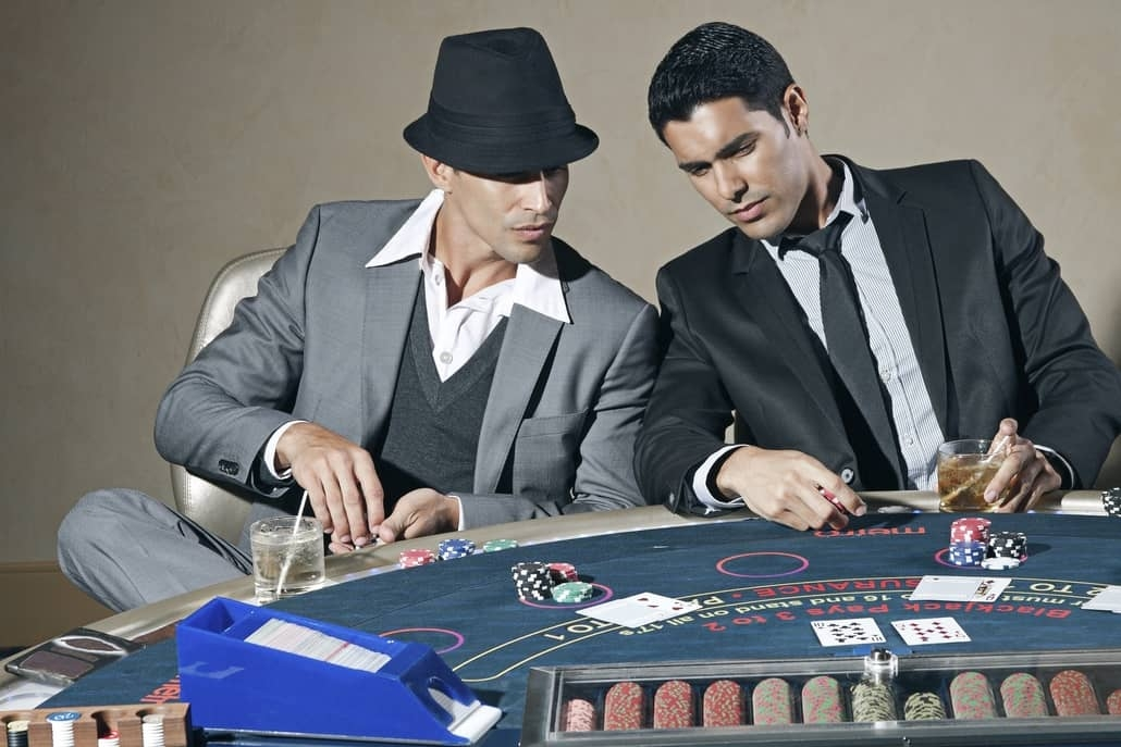 poker and blackjack tables