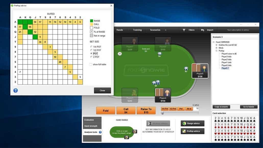 analyzing poker hands