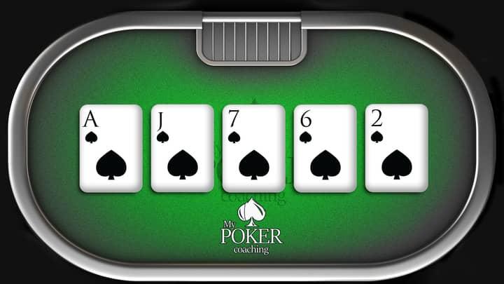 flush poker hands