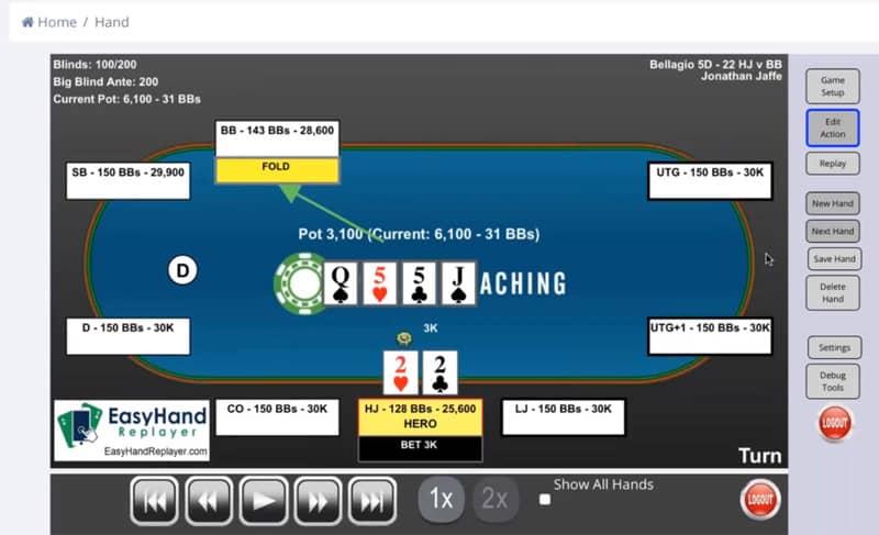 poker tournament challange hands review