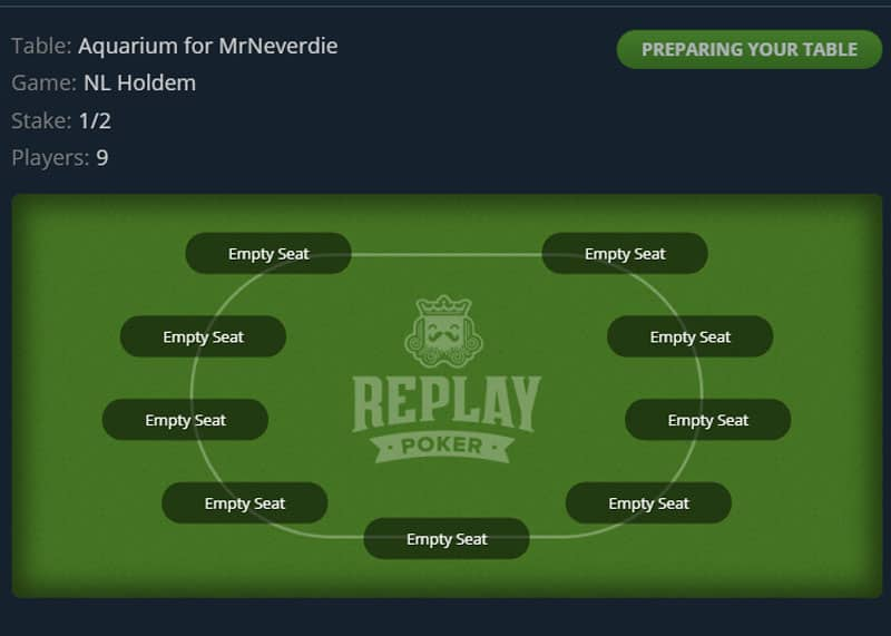 replay poker private games