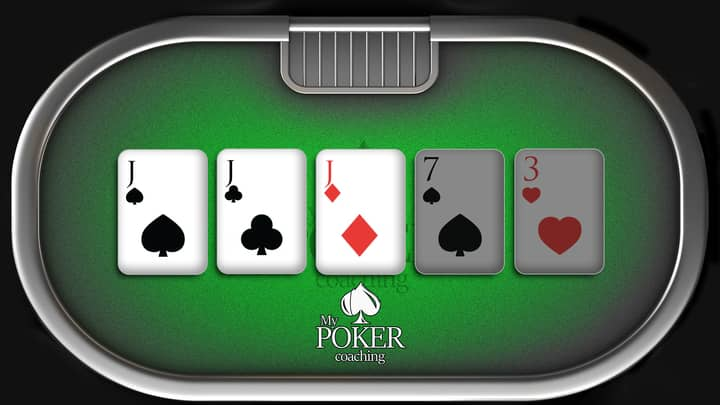 three of a kind poker hands