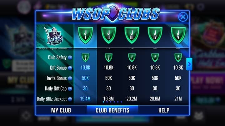 free WSOP chips for clubs