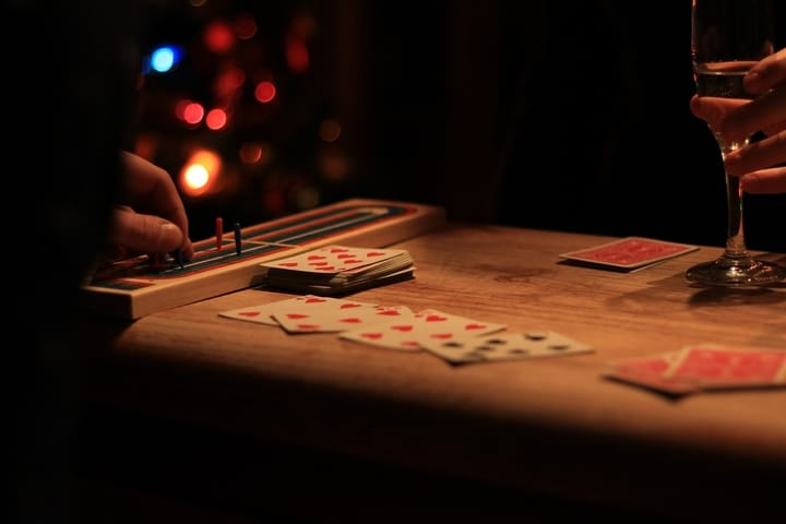 Cribbage card games for two people