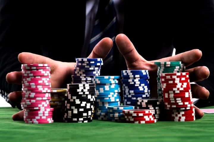 Going all in in poker