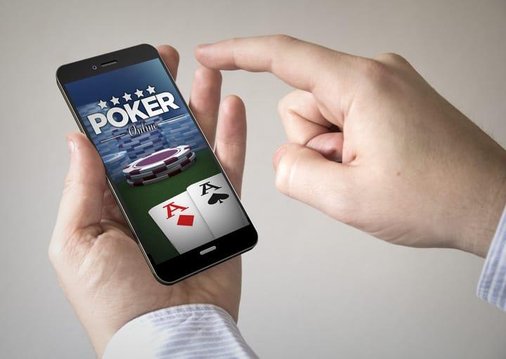 Playing online poker via phone